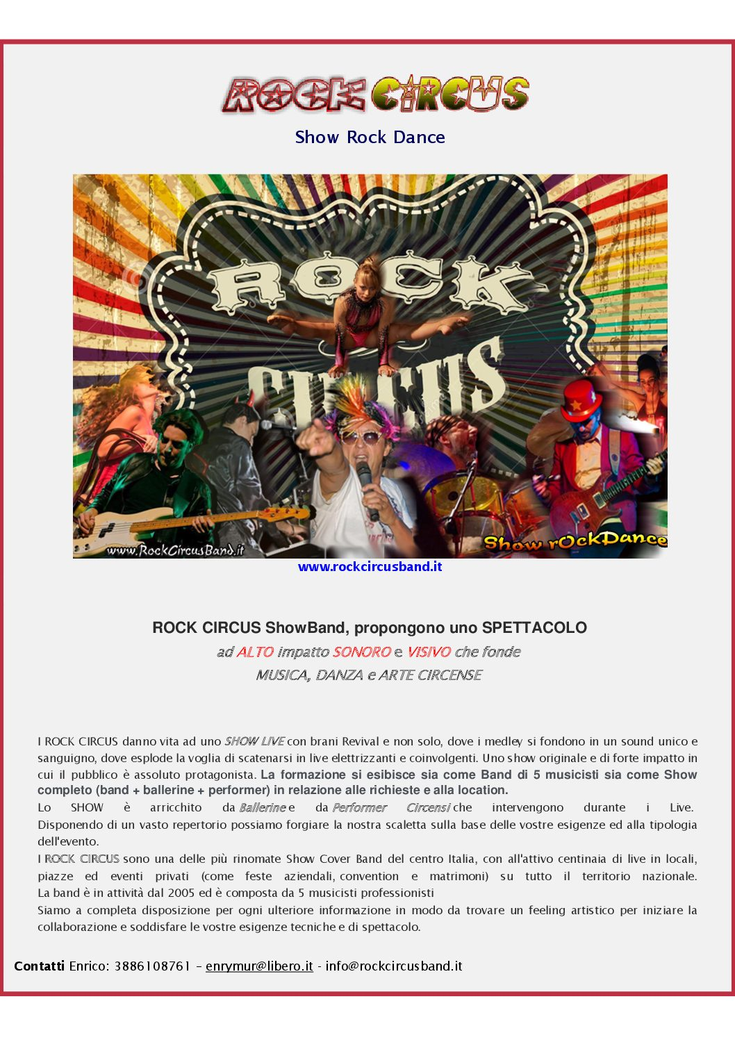 Rock Circus Band info cartacee (26_09_2016)